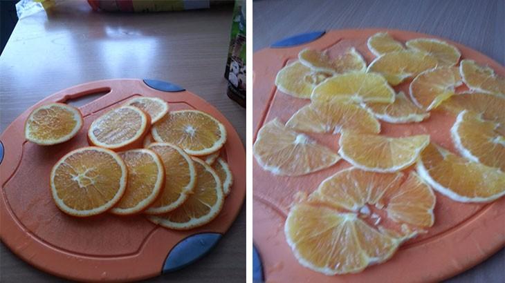 Нарезанные апельсины