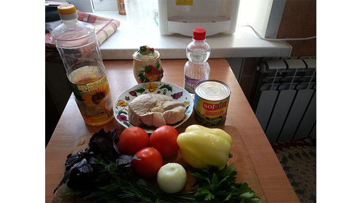 Ингредиенты салата Фитнес