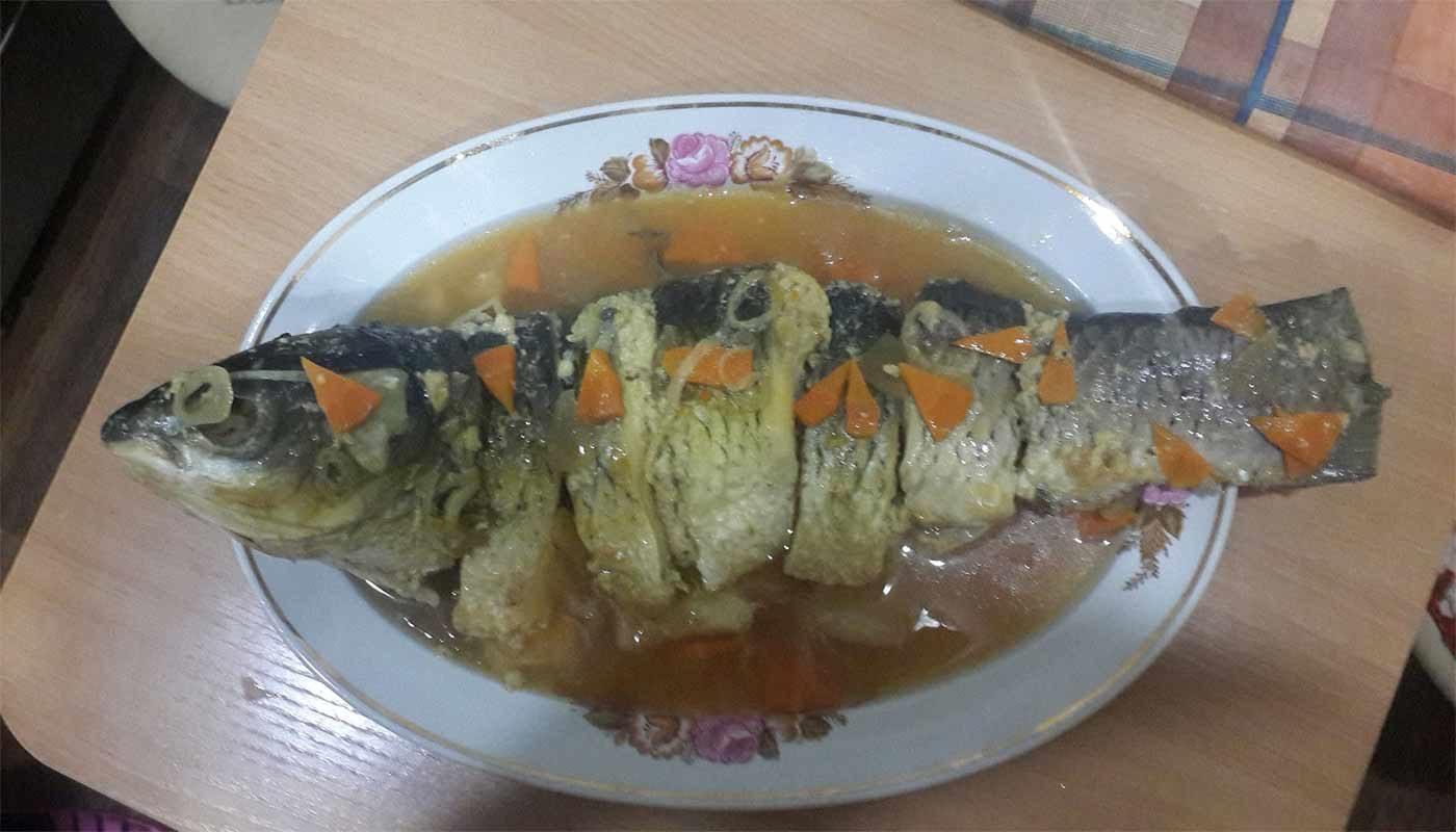 Рыба фаршированная, заливная: пошаговый рецепт с фото