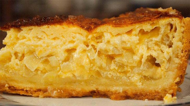 Сырный пирог без теста