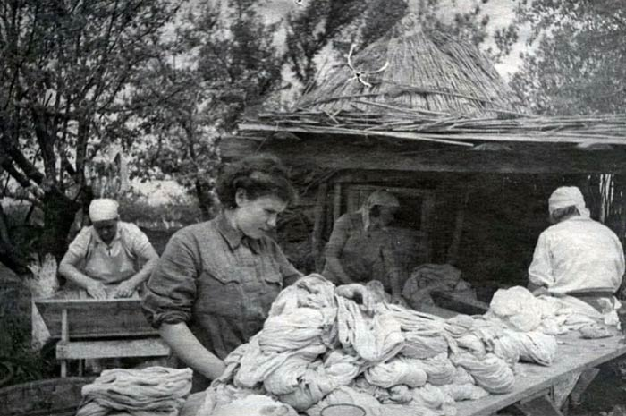 Солдатские прачки в годы Великой Отечественной войны